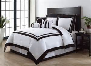 9 hotel black and white comforter set