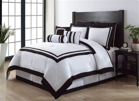 black and white bed set 9 piece queen hotel black and white comforter set