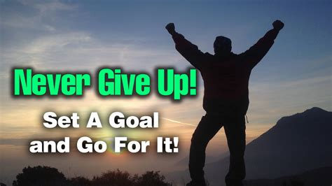 never give up never never give up no excuses
