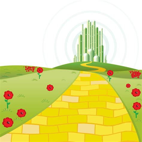 coloring pages of the yellow brick road yellow brick road emerald city google search princess