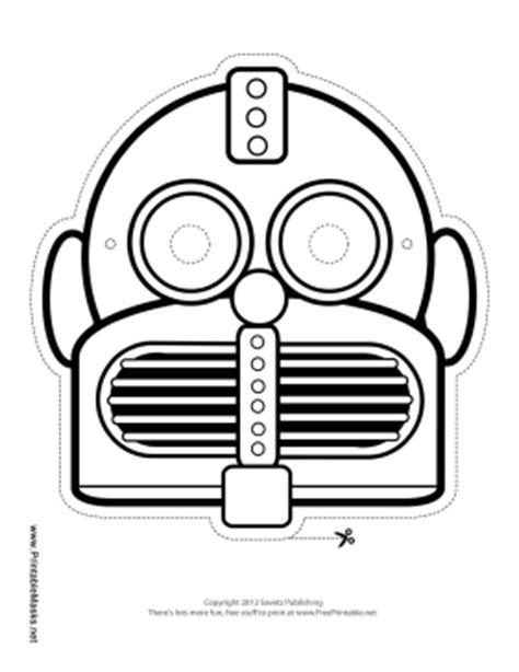 printable robot eyes printable round horizontal robot mask to color mask