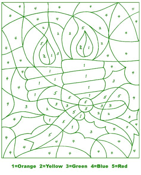 free holiday color by number coloring pages free coloring pages of xmas colour by numbers