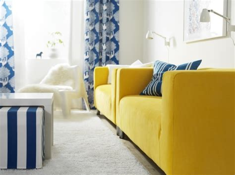yellow sofa ikea place klippan sofas side by side for the best seats in the