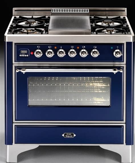 Kitchen Stove Gas by Ilve 36 Quot Majestic Dual Fuel Blue Range Eclectic Gas