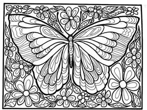 difficult big butterfly insects coloring pages adults justcolor
