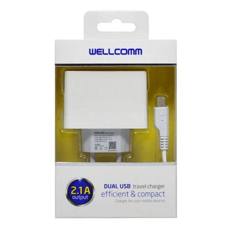Charger 2output 2 1a jual travel charger dual usb 2 1a output wellcomm eben