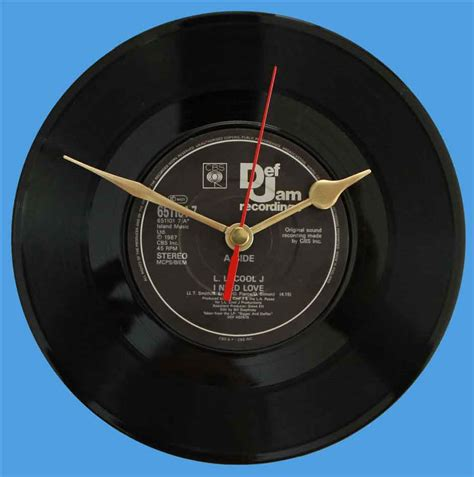 coolest clocks ll cool j i need love vinyl clocks
