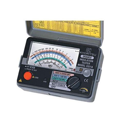 Jual Alat Test Fiber Optic harga jual kyoritsu 3322a insulation tester analog