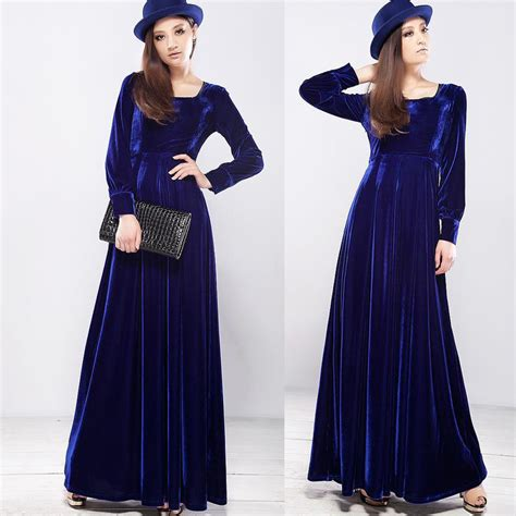 dress design velvet sexy velvet maxi dresses with side split cuts designers