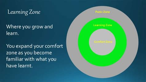 comfort zone learning zone the learning zone model