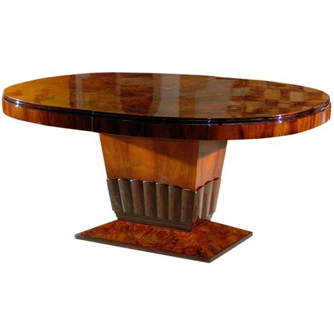 deco oval dining table with tulip base at 1stdibs