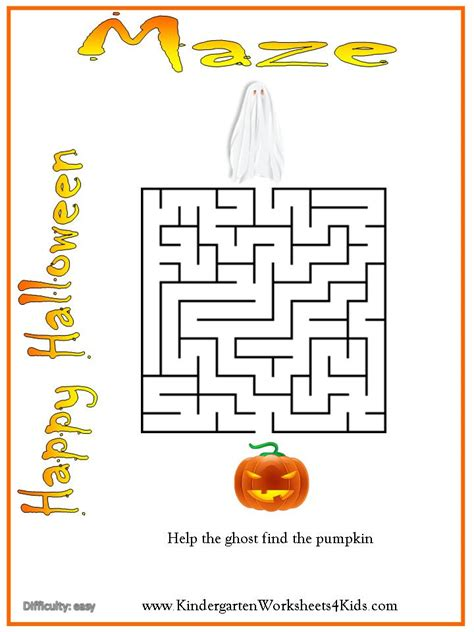 halloween maze printable easy halloween worksheets games activities and printables