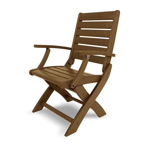 outdoor folding dining chair weatherproof polywood