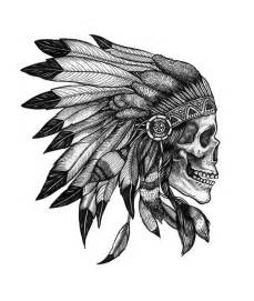 Skull with headdress tattoo meaning 1000 ideas about indian tattoos