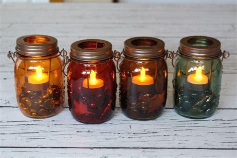 fall mason jar candles yesterday on tuesday