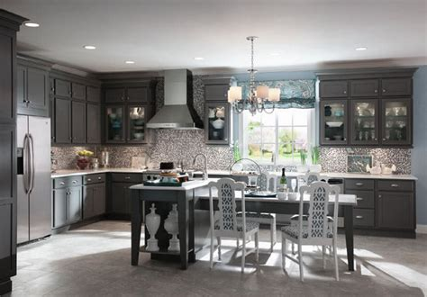 Backsplash Tile Lowes by Grey Kitchen Cabinets Kraftmaid Quicua Com