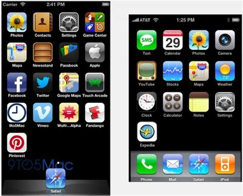 new iphone s bigger screen to 5th row of homescreen icons