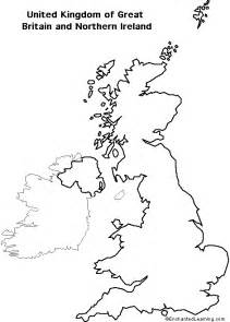 Simple Uk Outline by Outline Map Research Activity 3 United Kingdom