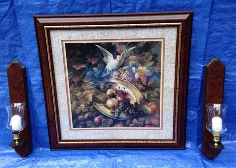 home interiors picture  piece dove fruit leaves