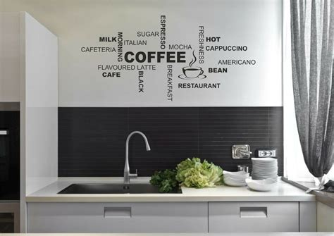 coffee kitchen wall quote stickers cafe vinyl art decals