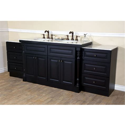 double sink bathroom vanities and cabinets bellaterra home 605522c double sink bathroom vanity dark