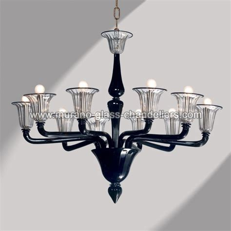 Black Murano Glass Chandelier Quot Coco Quot 10 Lights Black Murano Glass Chandelier Murano Glass Chandeliers