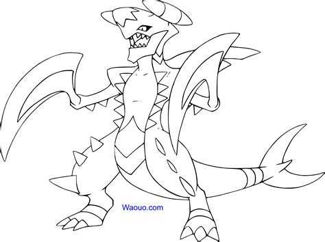 pokemon coloring pages mega diancie coloriage m 233 ga carchacrok pokemon 224 imprimer