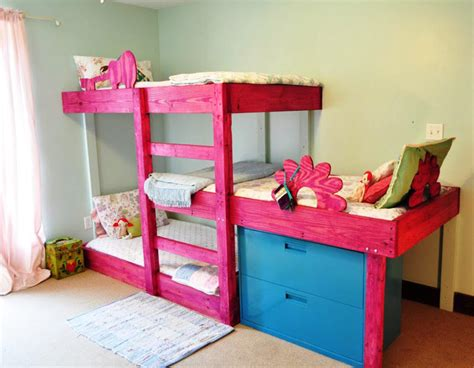 how to build a loft bed for kids diy bunk bed for toddler very practical bunk bed for