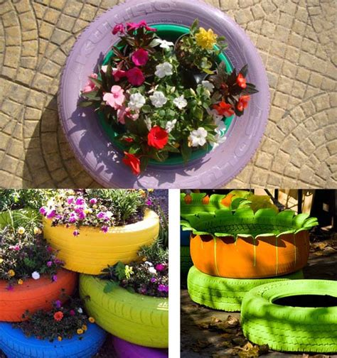 Car Tires Decoration How To Decorate Your Garden With Tires 4