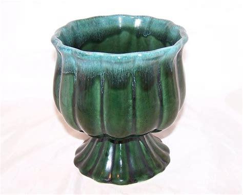 Green Flower Vase by Hull Green Dripware Flower Vase Planter
