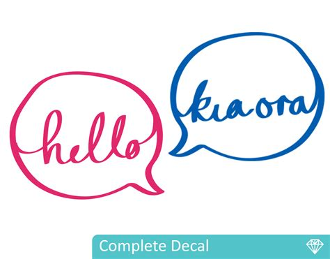 Kia Ora Hello Kia Ora Your Decal Shop Nz Designer Wall