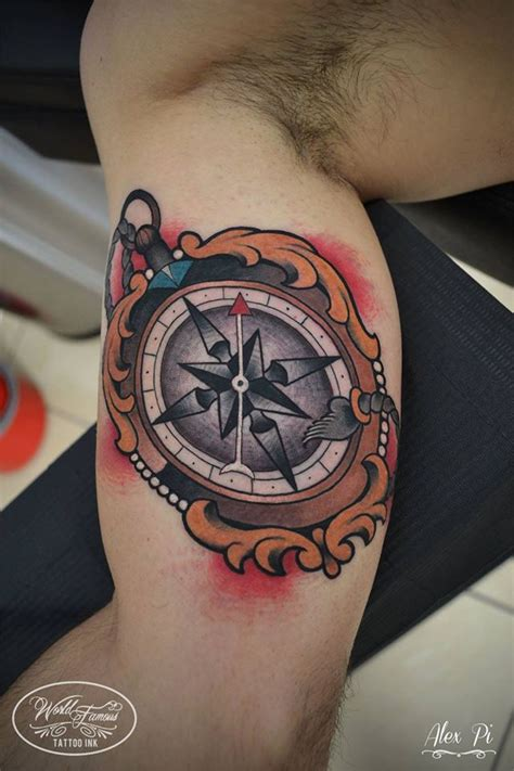 compass tattoo inner arm 3d anchor and compass tattoo image by kano