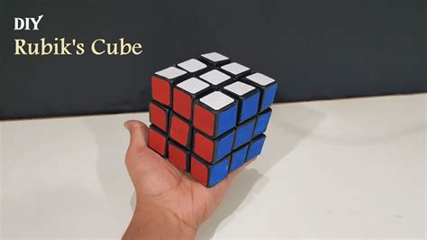 How To Make A Rubik Cube Out Of Paper - how to make a rubik s cube from cardboard with templates