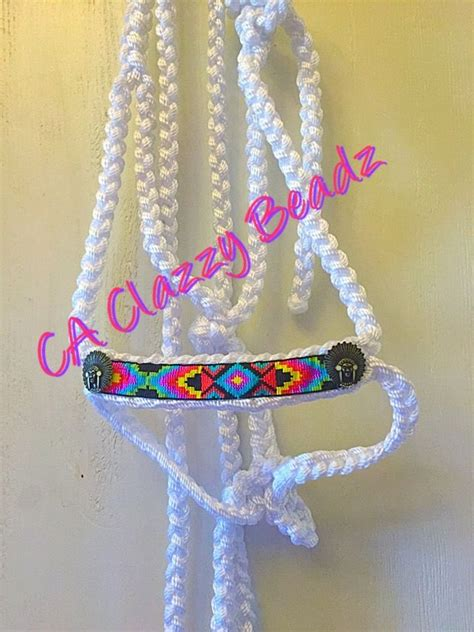 beaded braided mule tape rope halter ca clazzy beadz httpswwwfacebookcom