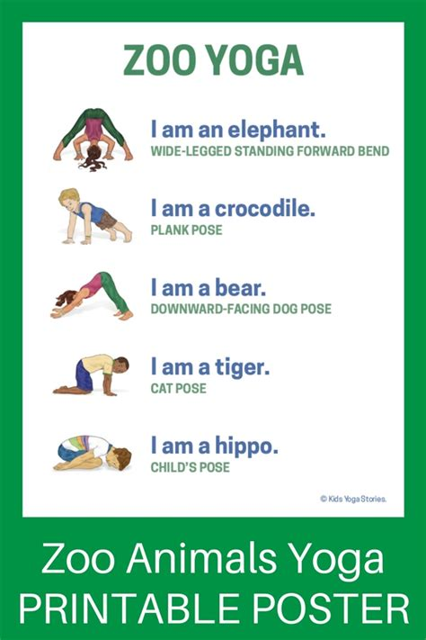 printable yoga poster yoga routines for toddlers sport fatare