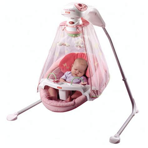 Com Fisher Price Papasan Cradle Swing Butterfly