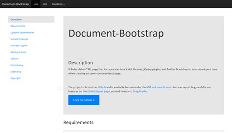 bootstrap themes documentation document bootstrap download