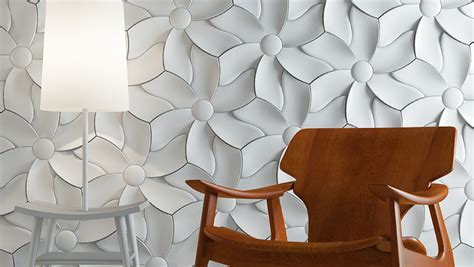 flower wall tiles soft and organic design textural concrete tiles with