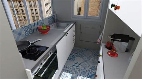 Amenager Une Cuisine 855 by D 233 Co Cuisine Etroite