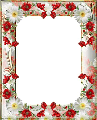 lined paper with poppy border transparent png photo frame with yellow poppies png