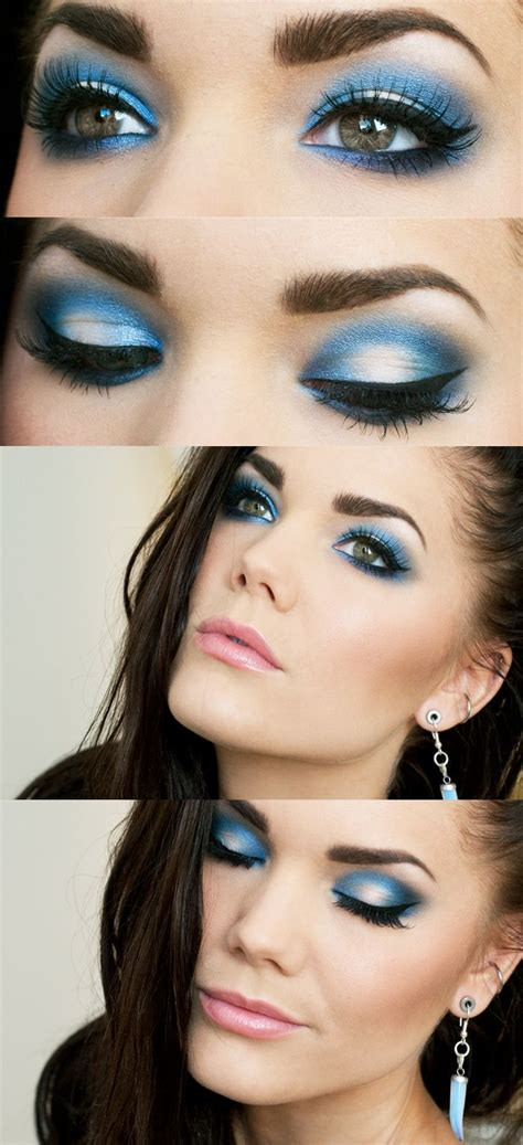 Eyeshadow Blue 12 chic blue eye makeup looks and tutorials pretty designs