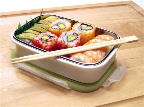 Bento Sushi steeltainer product images leak proof stainless steel quality