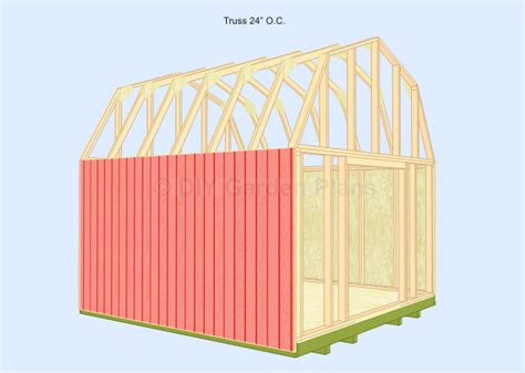 gambrel shed plans images