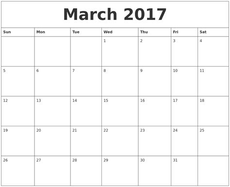 printable calendar march 2017 august 2017 blank monthly calendar template