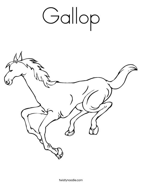 coloring page galloping horse gallop coloring page twisty noodle
