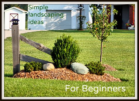 Gardening Ideas For Beginners Simple Landscaping Ideas For Beginners Frador