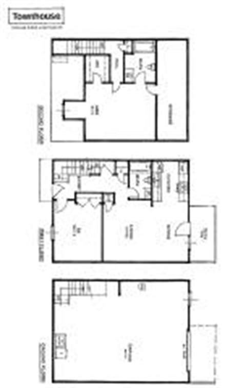 small townhouse floor plans apartment rental layout spacious living oversized closets