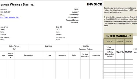 welding templates free welding invoice template