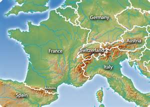Map Of Europe Mountains by Alps