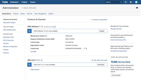 jira service desk download installing additional applications and version updates